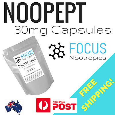 Noopep 30mg Capsules - Memory Learning Brain Enhancement FREE PRIORITY POST