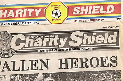Coventry V Everton  Charity Shield,  Coventry Telegraph Supplements + Programme