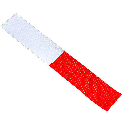 Best 2X DIY Red-White Truck Safety Warning Night Reflective Strip Tape Stickers