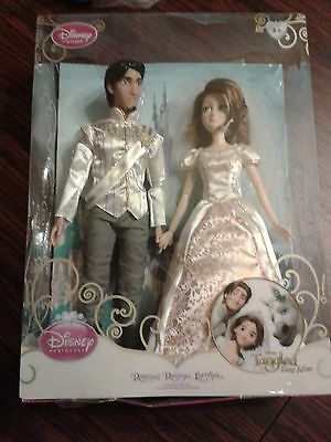 Rare Disney Store Rapunzel Flynn Tangled Wedding Barbie Doll Collectable Set New