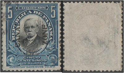 Panama. Canal Zone. 1909 -1910 PanamaStamps Overprinted. 5c.  Cancelled