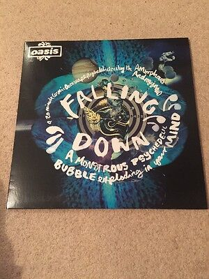 """oasis falling down 12"""" vinyl single Never Played"""