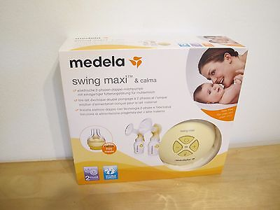 Medela Swing Maxi Electric Breast Pump w/ Calma NEW IN BOX Free Shipping from EU