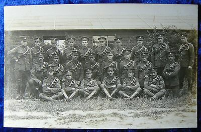 WW1 postcard - Territorial Artillery Soldiers some with Imperial Service Badges