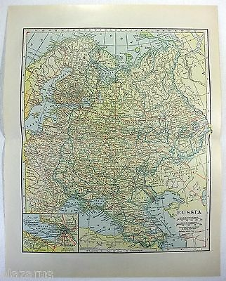 Original 1923 Map of Russia