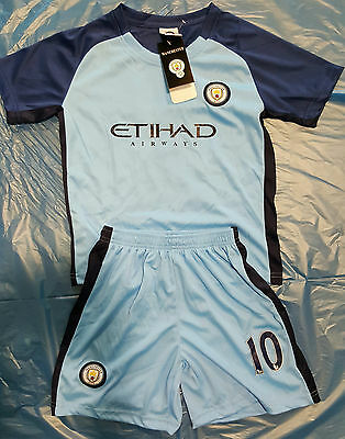 Kids and Men Soccer Jersey Set - Manchester City #10 - Fast Delivery
