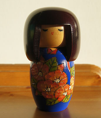 Authentic Japanese Kokeshi doll - hand-made, wooden