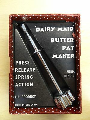 Vintage DAIRY MAID Butter Pat Maker Boxed
