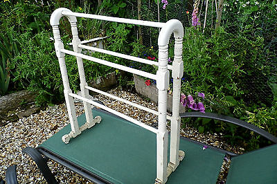 Victorian TOWEL RAIL wooden shabby chic Victorian antique