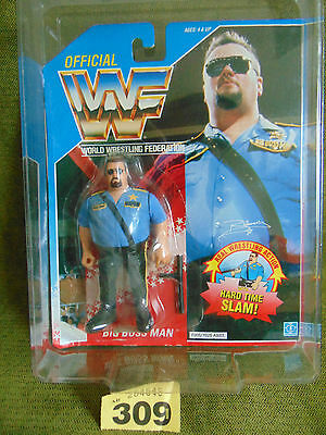 WWF Hasbro - BIG BOSS - Blue Card 1990 Mint Sealed + Protective Case WWE
