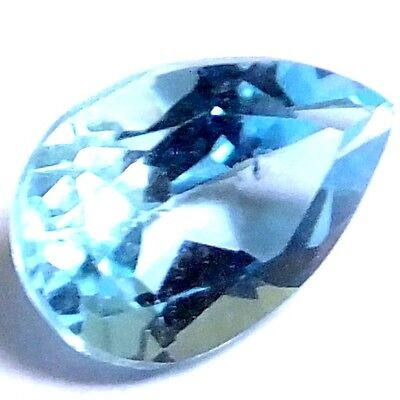 NATURAL CHARMING BLUE TOPAZ LOOSE GEMSTONE (9.1 x 6.1 mm) PEAR SHAPE
