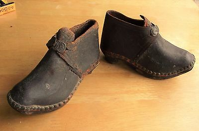 Antique Victorian Pair Leather Boots – Child's – Dolls – Reps Shoe Samples ?