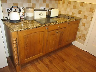 Solid Wood Kitchen with Granite Worktops and Integrated Appliances for Sale