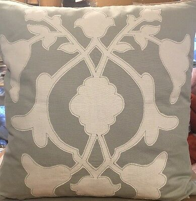 Barbara Barry Poetical Applique 18-inch Square Decorative Pillow - New