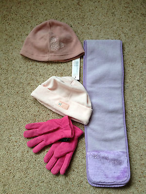 Girls Hats, Scarf And Gloves  Age 2-6 Years  Ex Cond