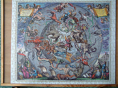 Optimago Hand Cut WOODEN JIGSAW PUZZLE 600 pieces Celetial Chart 1 complete