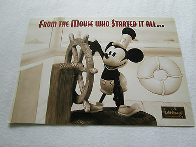 WDCC Steamboat Willie Mickey Promocard