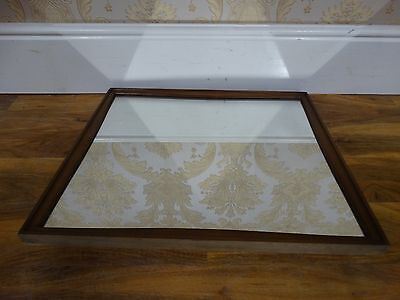 vintage wall  / hall mirror with wooden frame
