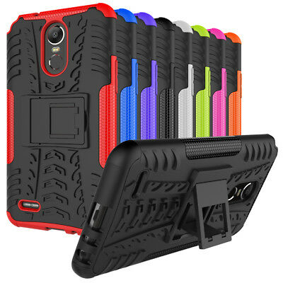 For LG Stylo 4, Stylo 3 Case Rugged Armor Shockproof Hybrid Cover with Kickstand