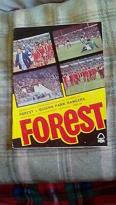 Football programme Forest 1978
