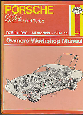 Porsche 924 and Turbo 1976 to1980 Haynes Car Manual