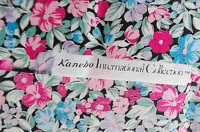 A length of cotton floral fabric from the Kanebo International Collection.