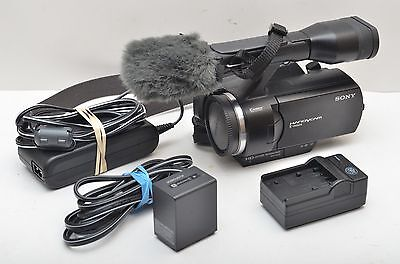 Used Sony NEX-VG10 High Definition Handycam Camcorder VG 10 Excellent Condition