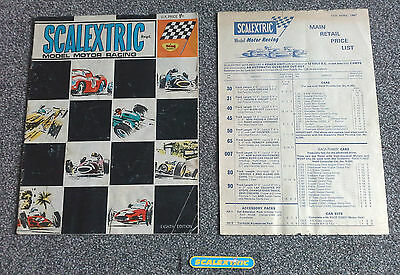 Scalextric Vintage 8th / Eighth Edition Catalogue 1967 (PRE-LOVED) & Price List