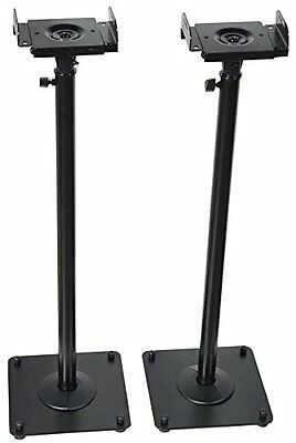 Studio Monitor Speaker Stand Height Adjustable Pair Concert Band DJ Studio Club