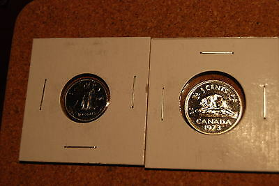 Canada 1973 10 Cents and 5 Cents PL Strikes