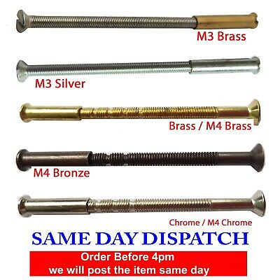 Male To Female Door Handle Connecting Screws, Bolts for Roses and Handles M4