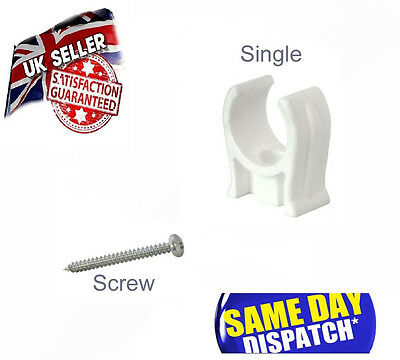 15mm and 22mm SINGLE & DOUBLE SNAP IN PIPE CLIPS FITTINGS