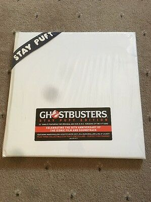 """❤️RARE SEALED PROMO WHITE/GLOW VINYL 12""""❤️Ghostbusters:Stay Puft Edition"""