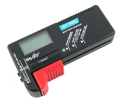 Universal digital 1.5V & 9V LCD batteries tester accumulator voltage checker V