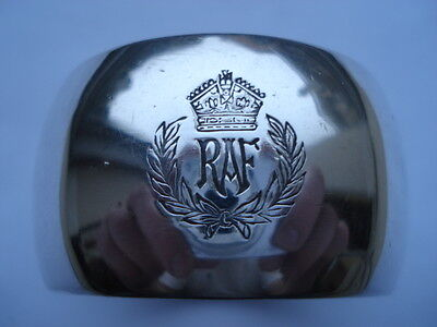 Cww2 Vintage R.a.f.silver Plated Officers Napkin Ring