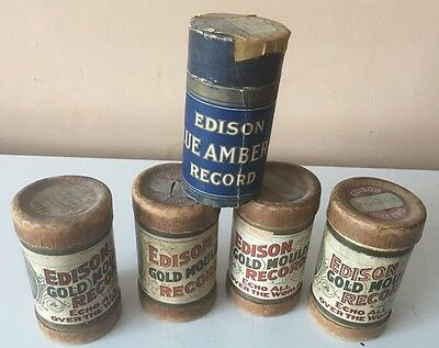 Antique Edison Phonograph Cylinder Lot