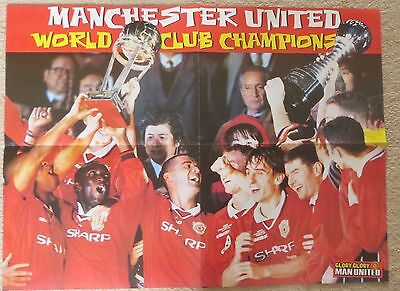 MANCHESTER UNITED World Club Championship Winners 2000 Large double sided poster