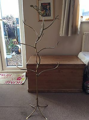 "VINTAGE BRASS SHOP FITTING - TREE - HATS BAGS GIFTS........45"" Tall X 19"" Wide"