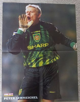 MANCHESTER UNITED  Large double sided poster Ryan Giggs Peter Schmeichel 1999
