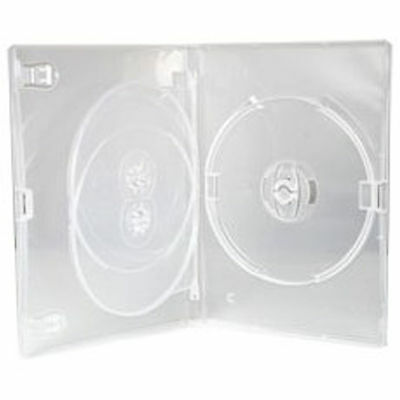 1 X CD DVD 14mm Clear DVD 3 Way Case for 3 Disc - Pack of 1