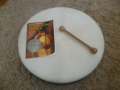Eagle Music Bodhran Drum with beater, tutor and CD