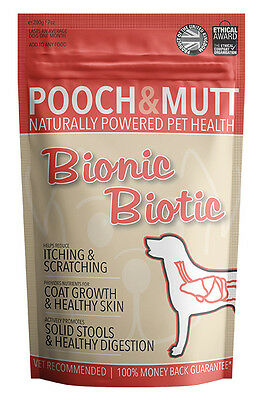 POOCH AND MUTT | BIONIC BIOTIC | Dog supplement for itchy skin (200g)