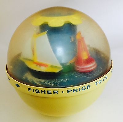 Vintage 1960's Fisher Price Roly Poly Boat Chime Ball #162 Rolly Polly Boats