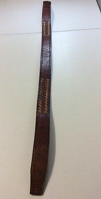 Vintage Tooled Leather Mexico Belt-No Buckle