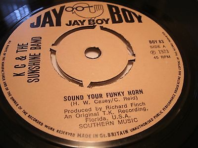 Kc & The Sunshine Band - Sound Your Funky Horn Uk 1973