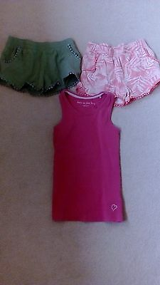 Girls Bundle 2 Pair Shorts + Vest Top Age 6 Years