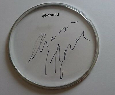 "Chrissie Hynde The Pretenders  signed 8"" inch chord drumhead PROOF AFTAL"