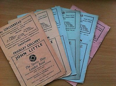 6 Grantham homes from the 1955/56 season - Worksop, Skegness, Corby. Frickley
