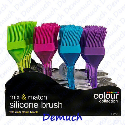 New Silicone Pastry Brush Cookware Bakeware Baking Cooking Assorted Colours UK ✔