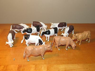 11 Pc Vintage Lot Britains Cows - Free US Shipping!